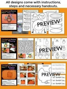 Thanksgiving Craft:  Placemats