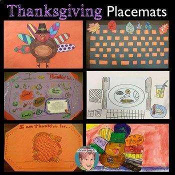 Thanksgiving Crafts: Thanksgiving Placemats | I Am Thankful For