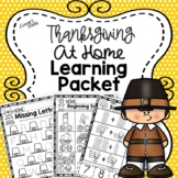 Thanksgiving At Home Learning Packet {Distance Learning}