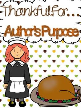 Thanksgiving Author's Purpose