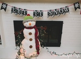 Winter Snow Snowflakes Chalkboard decor and printable banner