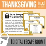 Thanksgiving/ Autumn/ Fall Escape Room- Science Digital Breakout