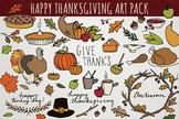 Thanksgiving & Autumn Hand-Drawn Clipart Pack