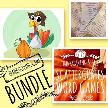 Autumn/ Fall fun Scattergories Word Game Bundle