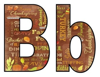 Thanksgiving BB Letters