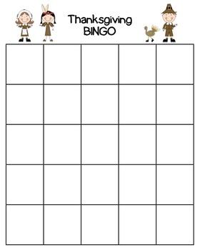Thanksgiving BINGO Activity