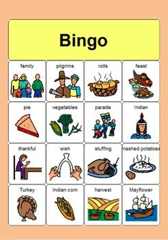 Thanksgiving BINGO Cards