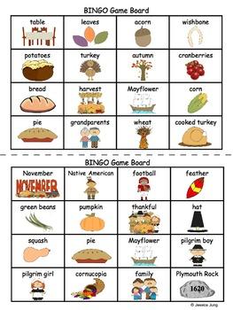 Thanksgiving BINGO Game!