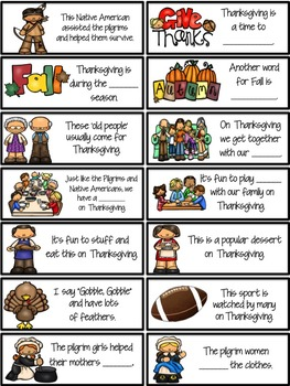 Thanksgiving BINGO using FUN FACTS {6 Bingo Card Versions}