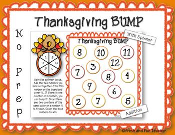 Thanksgiving BUMP Game {Freebie}