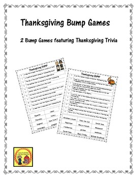 Thanksgiving BUMP Games