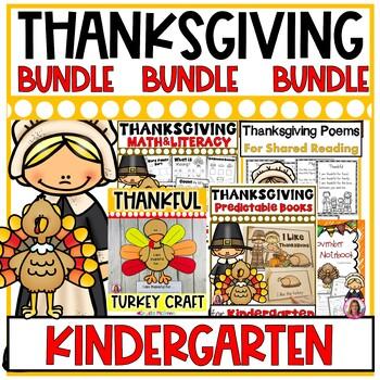 Thanksgiving BUNDLE! Half Price Printables, Journal, Craft, Books, Math Notebook