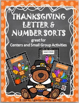 Thanksgiving BUNDLE Letter and Number Sorts