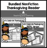 Thanksgiving BUNDLE Nonfiction Reader: Let's Celebrate Thanksgiving