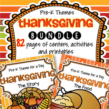 Thanksgiving BUNDLE Preschool