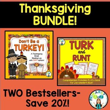 Thanksgiving BUNDLE {Turk & Runt PLUS Thanksgiving Reading Log!}