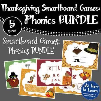 Thanksgiving BUNDLE of 5 Smartboard or Promethean Board Games!