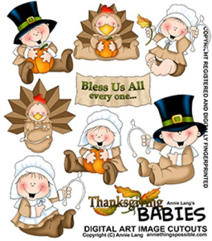 Thanksgiving Babies Character Image Clipart
