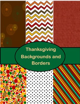Thanksgiving Backgrounds and Borders
