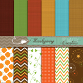 Thanksgiving Backgrounds/Digital Papers