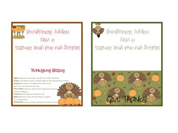 Thanksgiving Bag Toppers