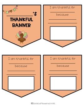 Thanksgiving Banner Writing Craft