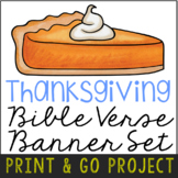 Thanksgiving Banner Craft Project, Bible Verse Discovery A