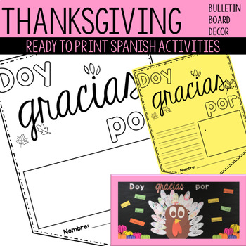 Thanksgiving Banner and Bulletin Board Activity / Actividad de Accion de gracias