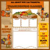 Thanksgiving Banner in Google Slides