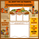 Thanksgiving Banner in Google Slides