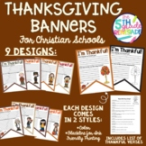 Thanksgiving Banners for Christian Schools