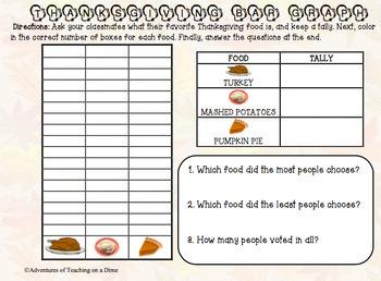Thanksgiving Bar Graph {ACTIVITY!}