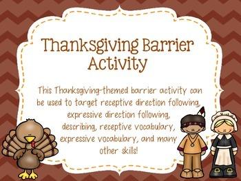 Thanksgiving Barrier Activity