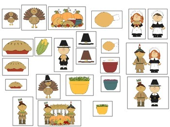 Thanksgiving Basic Concepts Following Directions for Speech and Language Therapy