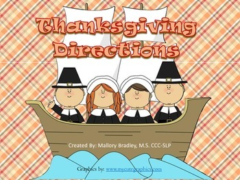 Thanksgiving Basic Concepts Following Directions for Speec