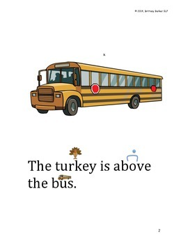 FREEBIE Thanksgiving Basic Concepts- Where is the Turkey?