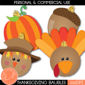 Thanksgiving Bauble Heads Freebie