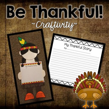 Thanksgiving Craft:  My Thankful Story