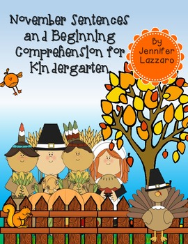 Thanksgiving Beginning Comprehension and Writing/Labeling