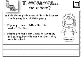 Thanksgiving Beginning Reader Literacy & Social Studies Comprehension Activity