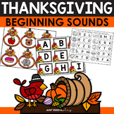 Beginning Sounds Activity Center for Thanksgiving | November