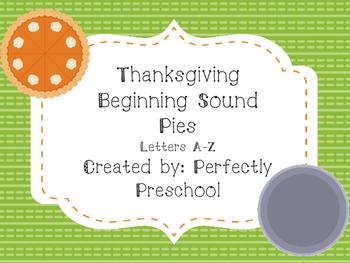 Thanksgiving Beginning Sound Pies