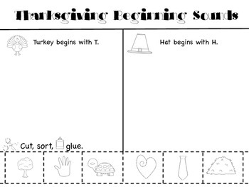 Thanksgiving Beginning Sounds