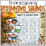 Thanksgiving Beginning Sounds