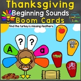Thanksgiving Beginning Sounds, Letter Sounds Boom Cards (D