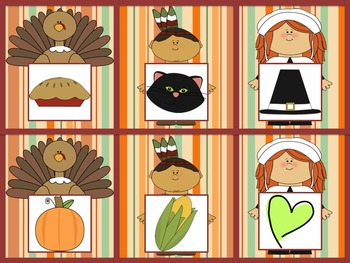Thanksgiving Beginning Sounds Match