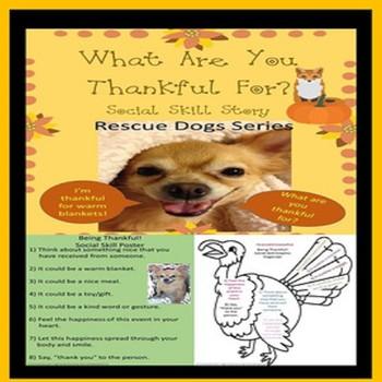 "Thanksgiving Behavior Management ""Being Thankful"" Social S"