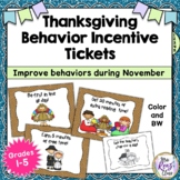 Thanksgiving Behavior Incentive Tickets (No Prep) That Imp