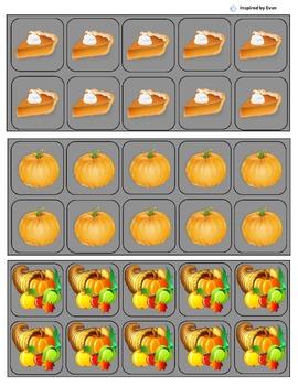 """Thanksgiving"" Behavior Token Boards for Autism"