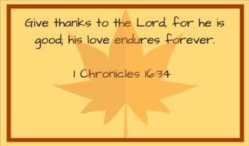 Thanksgiving Bible Verse Cards